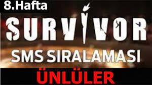 Survivor 2021 | 8. Hafta Ünlüler SMS sıralaması - YouTube