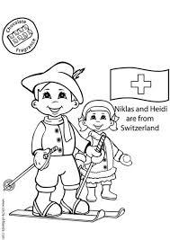 Disegno Da Colorare Niklas E Heidi Dalla Svizzera Cat 5641 Images