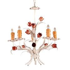 rare medium plus a chandeliers white painted iron 5 lights mini chandelier white spray painted chandelier