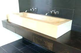 undermount trough bathroom sink bathroom sink amazing trough sinks with two faucets long bathroom sink trough