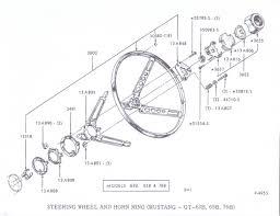 1965 mustang steering column diagram large size
