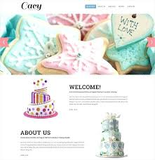 Crispy Cakes Website Template Cake Decorating Templates Monster