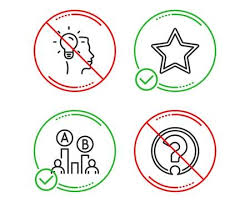 Do Or Stop Star Ab Testing And Idea Icons Simple Set Question