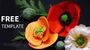 Make A Paper Poppy Flower How To Make Poppy Paper Flower From Regular Paper Free Template