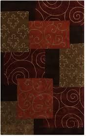 lovely burnt orange area rug brown and orange rug roselawnlutheran