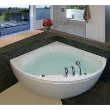 aquatica s cleopatra corner tub is made from premium acrylic material and the thickness of its