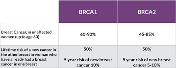 Breast Cancer Risk By Age Chart Managing Your Risk Of Breast Cancer If You Have The Brca1 Or