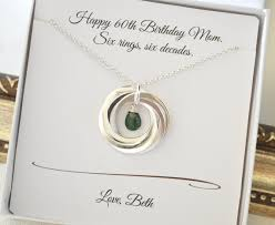 60th birthday gift for mom may necklace emerald birthstone jewelry 6th anniversary gift for wife gift for mom mom necklace mom jewerly