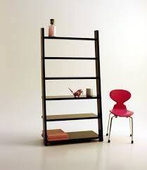 contemporary dollhouse furniture. Miniature Modern Wall Leaning Bookcase Black By AmazingMiniatures Contemporary Dollhouse Furniture