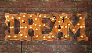 Dream Light Up Wall Decor Marquee Light Up Dream Sign Box Light Up Wall Decoration