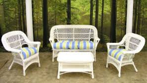 Exterior Beige Cape May Wicker With Beige Cushions And Whtie Cape May Outdoor Furniture
