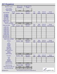 Bill Calendar Template Best Monthly Bill Organizer Excel XLS