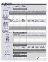 Bill Organizer Beauteous Monthly Bill Organizer Excel XLS