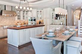 linear chandelier kitchen transitional with farmhouse table island large rectangular seagrass chandelier light hubbardton