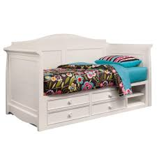 wooden daybeds with storage awesome uk solid white finish four built pertaining to 3