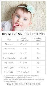diy baby flower headband elastic size chart