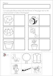 Rhyming Worksheet Kindergarten Kids Rhyming Words Worksheet Quiz For ...