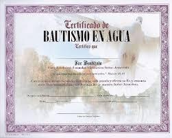 Certificado De Bautismo Template Certificados De Bautismo Cristiano La Roca Certificado De