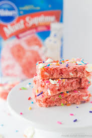 Strawberry Cake Mix Brownies Made To Be A Momma