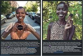black insram makeup artist