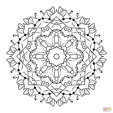 Mandala Coloring Sheet Floral Mandalas Coloring Pages Free