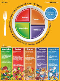 food plate in spanish. Beautiful Food Use The MyPlate MiPlato Spanish Color Handout Tearpad  Each Tearpad Is Intended Food Plate In S