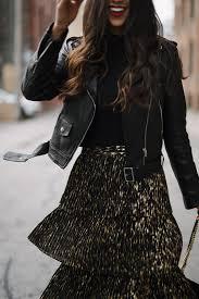 olivia palermo chelsea28 accordion pleat midi skirt nordstrom club monaco leather jacket gucci marmonte bag senso black
