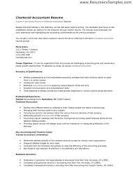Chartered Accountant Resume Sample Accountant Resume Sample