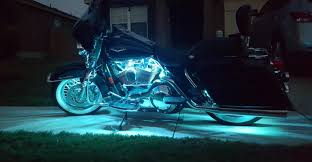 Where To Place Led Lights On Motorcycle Beautiful Led Strip Lights On A Harley Motorcycle From