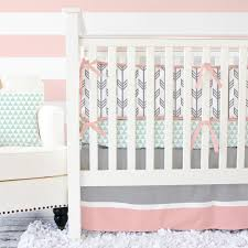 image of modern nursery bedding girls