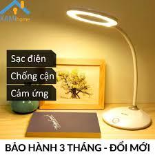 Đèn học để bàn chống cận thị sạc tích điện cổng USB KM6702