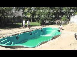 inground fiberglass pool build pools inc