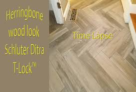 herringbone tile floor. Herringbone Wood Look Plank Porcelain Tile Floor Time Lapse T-Lock™ - YouTube