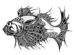 Ilustrace19438441 Abstraktní Ryby Pozadí Tetování Design