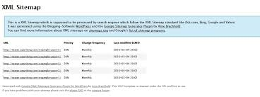 exle sitemap screenshot