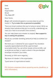 Thank You Letter For Food Donation Asking For Donations The Nonprofits Guide Free Templates Qgiv Blog