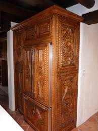 Custom spanish style furniture Spanish Colonial Carved Custom Cabinets Spanish Colonial Style Furniture Quality Cabinetry Applied To Kitchen Pantry And Refrigerator In Santa Fe New Mexico Remodeled Pinterest Carved Custom Cabinets Spanish Colonial Style Furniture Quality
