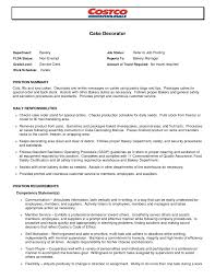 Bakery Clerk Job Description For Resume Bakery Clerk Sample Resume For Teacher Position Baker Job 34