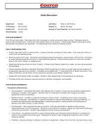 Bakery Clerk Job Description For Resume Bakery Clerk Sample Resume For Teacher Position Baker Job 34