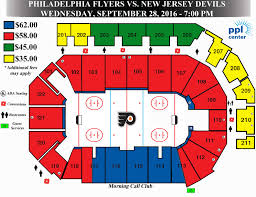 Wachovia Center Philadelphia Seating Chart Philadelphia Flyers Seating Boardwalk Inn Kemah