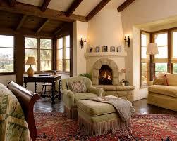 huge southwest master dark wood floor bedroom photo in santa barbara with a corner fireplace
