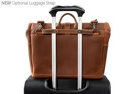 leather satchel for men messenger bag luggage strap