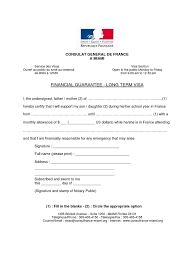 Schengen Visa Financial Guarantee Sample Letter Format
