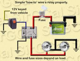relay wiring for led light bar ih8mud forum Basic Without Fog Light Relay Wiring Diagram found the following info at wire fuse size & relay explanations jeepforum com Light Switch Wiring Diagram