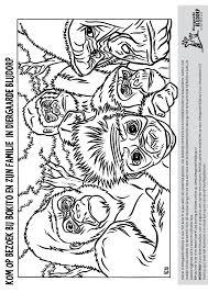 Kleurplaat Diergaarde Blijdorp Gorilla Kleurplatennl