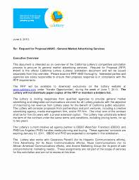 A Proposal Letter For Advertisement New Sample Advertising Proposal