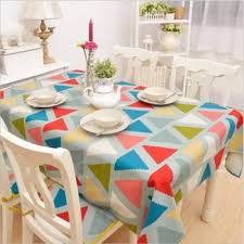 small fresh geometric puzzle simple home tablecloths