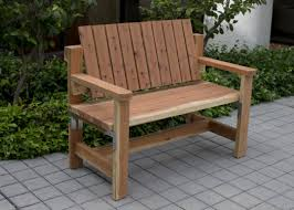 diy patio couch how to build outdoor double adirondack chair with cooler plans rustic style wooden