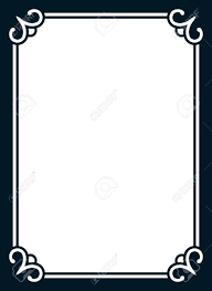 simple frame border. Frame Border Line Page Vector Simple Cover Stock - 68976414