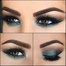 makeup stuff bination of black liner and deeper shades green such as emerald dark look flattering on brown brown eyes smokey